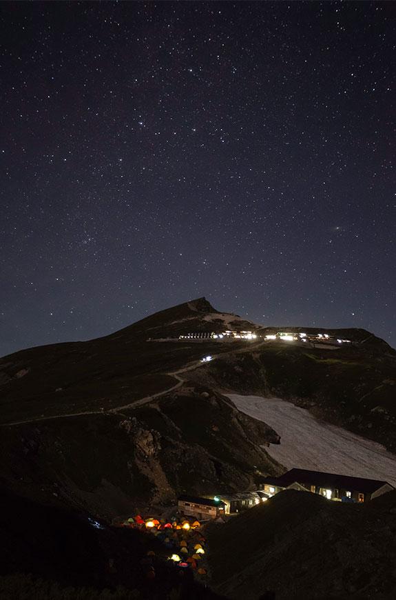 白馬岳と星